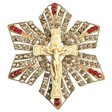 Devotional Crucifix with Rhinestones