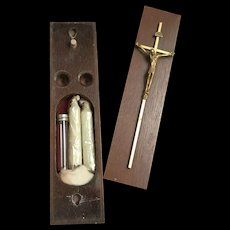 Last Rites Box with 1960's Mod Crucifix