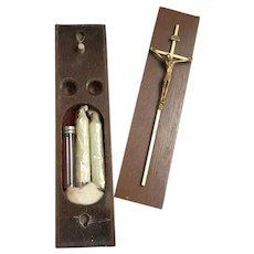 Last Rites Box with 1960s Modern Crucifix