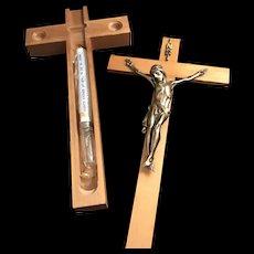 Mid-Century Crucifix Last Rites Set