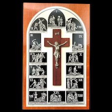 French Stations of the Cross Plaque