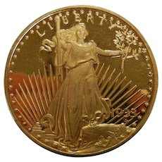 Vintage 1933 Liberty Gold Plated Coin Copy #0905