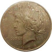 1926 D Peace Dollar Coin