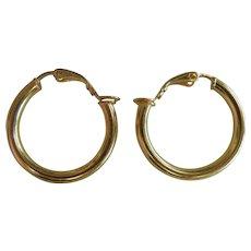 Vintage GP Sterling Silver Hoop Clip Earrings