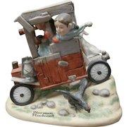 Vintage Norman Rockwell Porcelain Figurine - Soap Box Racer