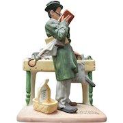 Vintage Norman Rockwell Porcelain Figurine - Bookworm