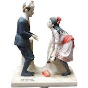 Vintage 1980 Norman Rockwell Porcelain Figurine - First Dance