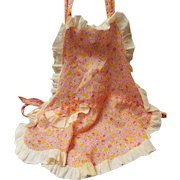 Fabulous Vintage Child's Apron,  Batiste