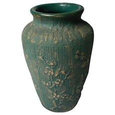 Vintage Red Wing Vase, Branch and Floral Design