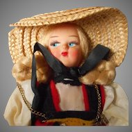 Vintage Swiss Doll in Original Costume