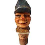 Vintage Anri Carved Wood Bottle Cork