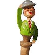 Vintage Animated Carved Cork by Anri