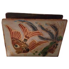 Vintage Enameled Match Box Cover