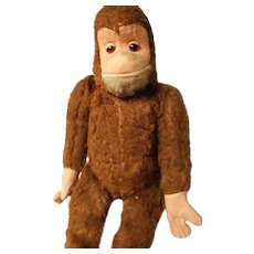 Vintage German Mohair Monkey, Felt Face and Paws