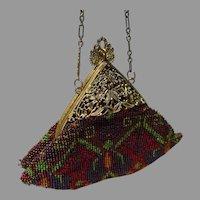 Antique Early Century Beaded Triangular Handbag