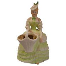 Vintage Figural Vase, Czechoslovakia
