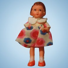 Vintage Rubber Doll House Doll in Original Costume