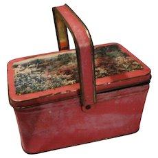 Vintage Child's Tin Lunch Box