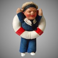 Vintage N Wellings Sailor Doll