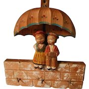 Anri Carved Wooden Hanger for Keys