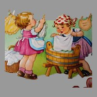 Vintage Lithograph Stickers of Children