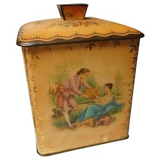 Vintage German Enameled Tin