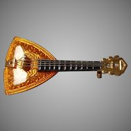 Vintage W Germany Mandolin Brooch