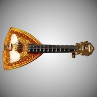 Vintage W Germany Mandolin Brooch