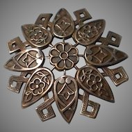 Vintage Geometric Design  Brooch