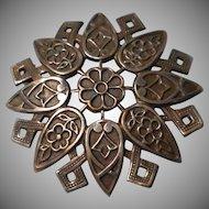 Vintage Geometric Design  Brooch