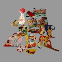 Set of 16 Disney Lithograph Stickers, Mid Century