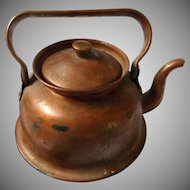 Vintage Child's Copper Plated Teapot