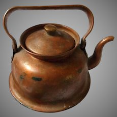Vintage Child's Copper Plated Teapot