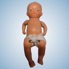 Vintage Jointed All Bisque Baby Doll