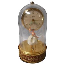 Vintage West German Clock and Dancing Ballerina