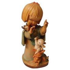 Anri Carved Angel with Animals, Ferrandiz