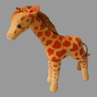 Velvet Plush Giraffe by Steiff