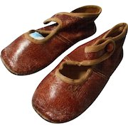 Child's Antique Leather Button Shoes