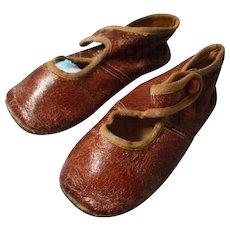 Child's Antique Leather Button Shoes