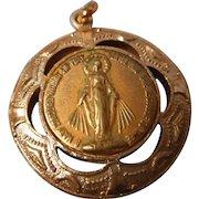 Vintage Madonna Medal in Bezel