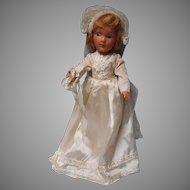 Vintage Composition Bride Doll