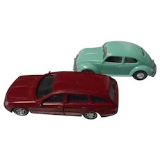 2 Vintage W. German Toy Cars, Doll House Size