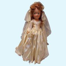 Vintage All Compo Bride Doll