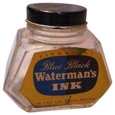 Vintage Waterman's Ink Bottle