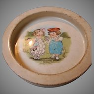 Child's Dish with Campbell's Soup Kids by G.G. Drayton on Front