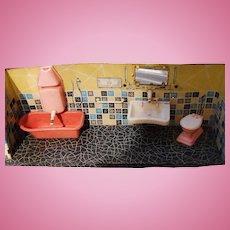 Vintage Doll House Bathroom, W.Germany