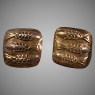 Vintage Sterling Earrings with Fish Design
