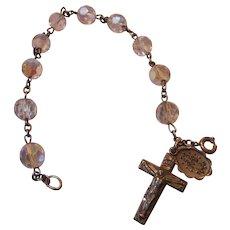 Vintage Rosary Bracelet, Sterling