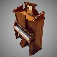 Vintage Doll House Piano/ Organ and Bench