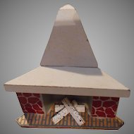 Vintage Wooden Doll House Fireplace